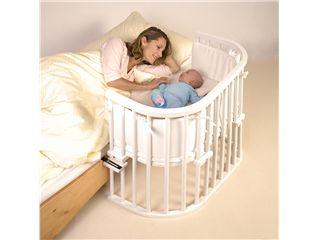 Babybay Original von Babybay, Buche massiv, weiß lackiert - Das bekannte Stillbett für harmonische Nächte