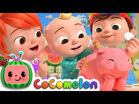 Piggy Bank Song Cocomelon Nursery Rhymes Kids Songs Youtube In 2020 Kids Songs Funny Face Song Rhymes For Kids