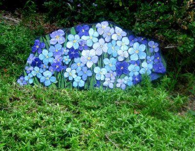 Hand painted garden rocks.