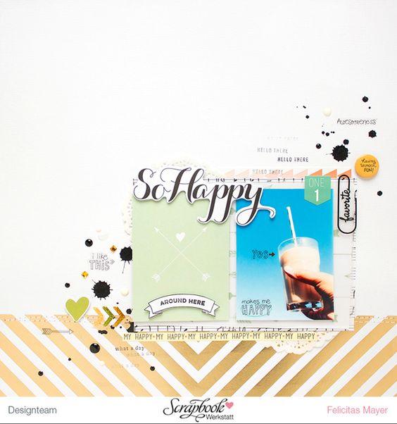 Felicitas Mayer - 2 Scrapbooking Layouts und 2 Karten, gestaltet mit der 'Nine & Co' Kollektion