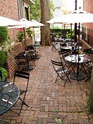 Cafe Outdoor Dining @ Town House Books Cafe, best outdoor dining ever!!!!
