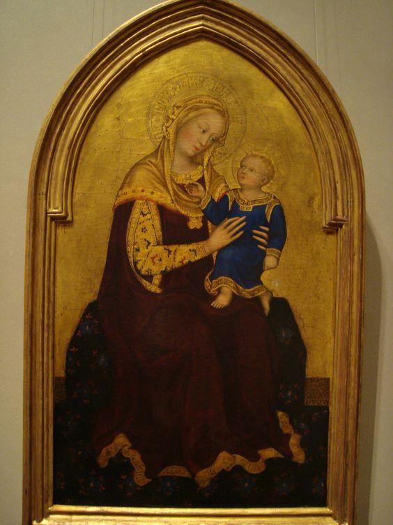 """Madonna and Child Enthroned"" -Gentile da Fabriano (1420)"