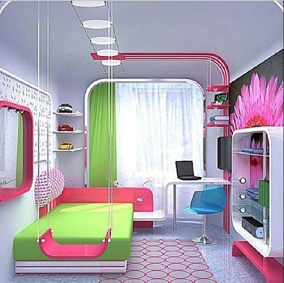 Girls Dream Bedroom: This Bedroom Looks So Modern And Fancy And Maybe A Little