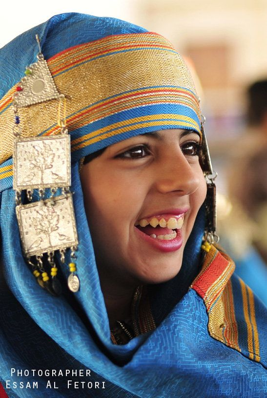 "Africa | ""LIBYA"" A girl wearing a folk costume participates in Carnival Benghazi Capital of Culture 2013 