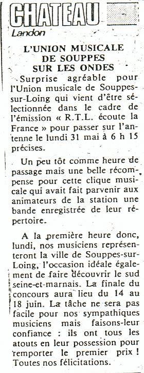 Le Parisien de Seine & Marne 29-30.05.1982