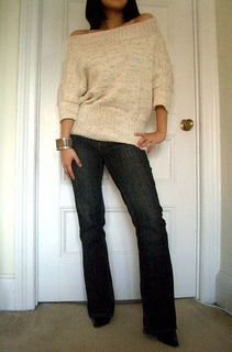 off-the-shoulder pullover knitting pattern *free @Hannah Mestel Mestel Marcotti.  For Samantha Carwile to make me if she ever gets really really bored and wants to surprise me!