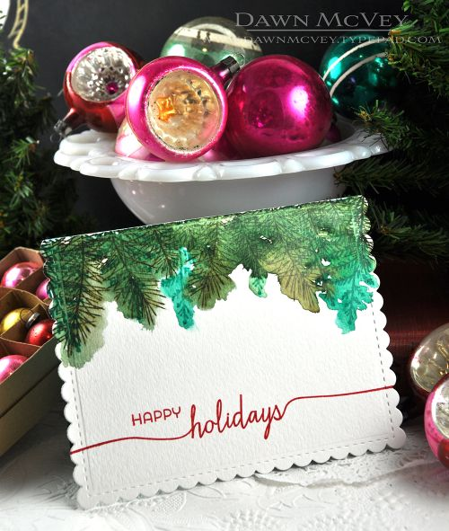 Happy Holidays Card by Dawn McVey for Papertrey Ink (September 2016)