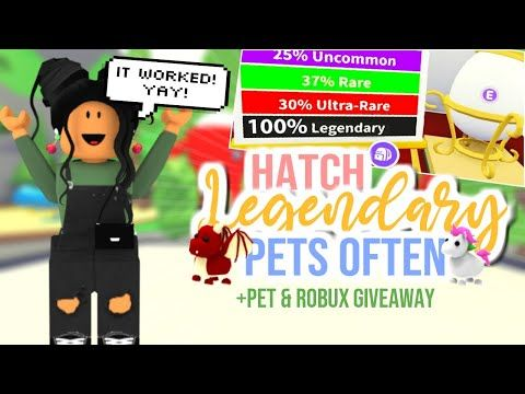 Working How To Hatch A Legendary Pet In Adopt Me Sunsetsafari Youtube In 2020 Adoption Pets Pet Hacks