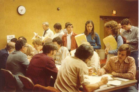 Registration in the 80's. #DrKlein #denverseminary