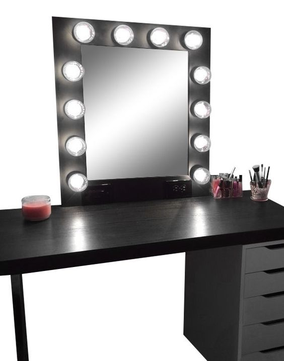 Vanity Light With Electrical Socket : Led dimmer, Vanities and Mirror on Pinterest
