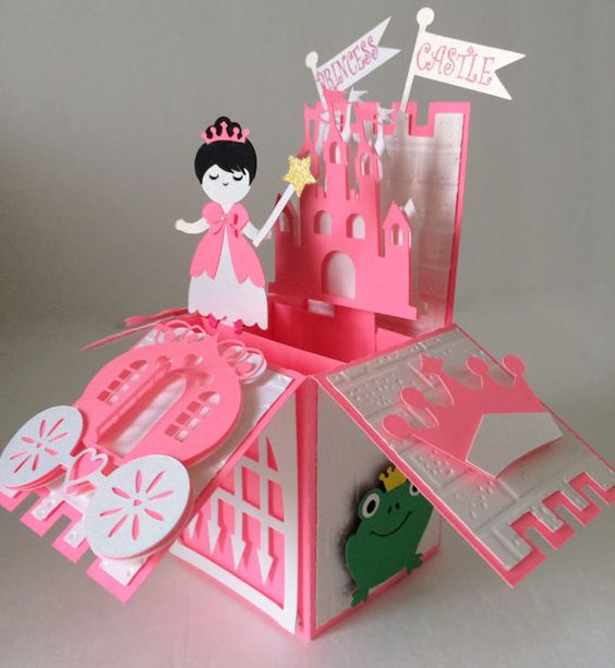 Princess Castle Card In A Box by MyCasualWhimsy on Etsy