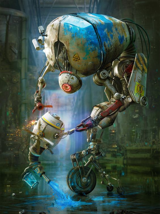 Painting robots by Gleb Alexandrov | Robotic/Cyborg | 2D | CGSociety