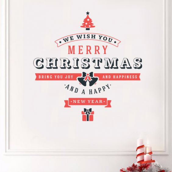 Merry Christmas and happy new year  illustration sticker