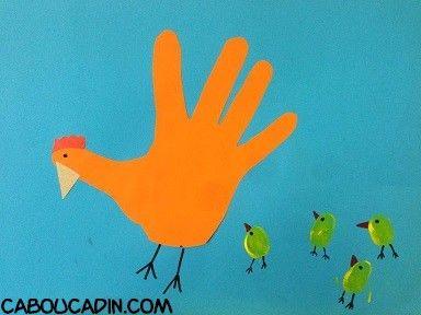 Mains comment and bricolage on pinterest - Comment faire une poule en papier ...