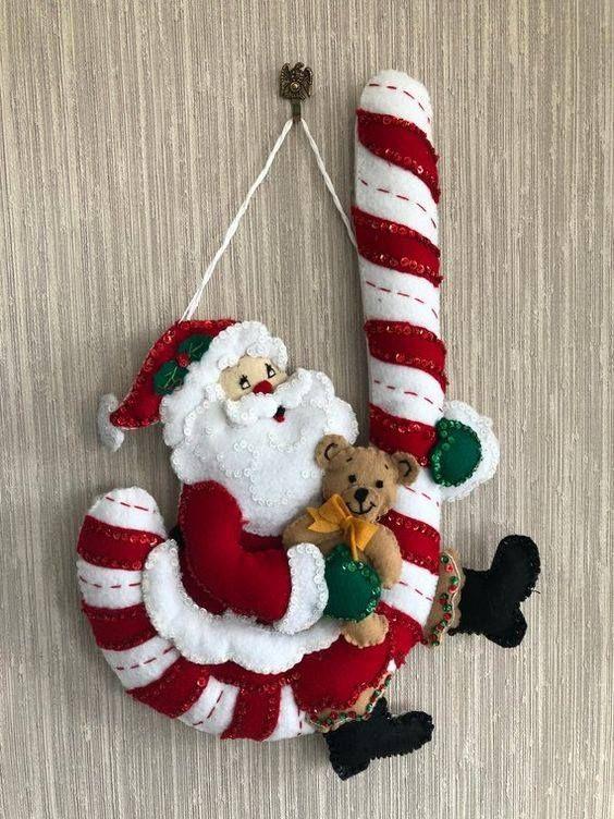Manualidades De Fieltro Para Navidad Gratis Manualidades Navideñas Muñecos Navideños En Tela Adornos Navidad Fieltro