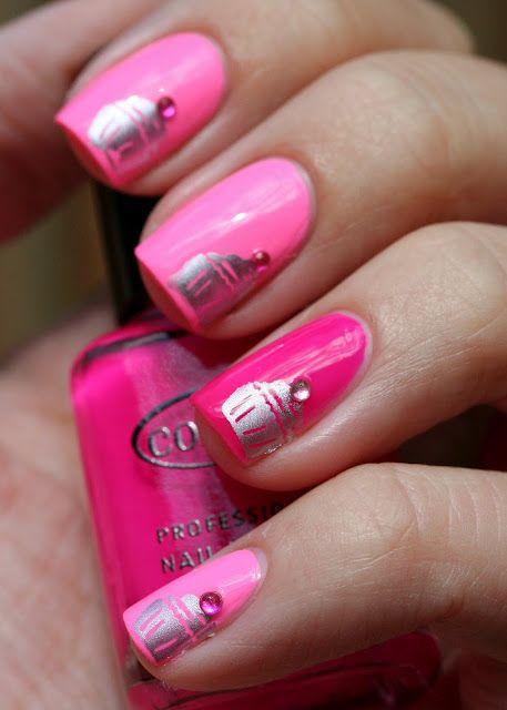 Cupcake mani-cute!: Pink Cupcake, Nails Art, Cupcake Nails, Nail Polish Designs Colors, Nail Designs Fingers