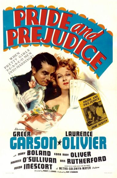 Pride And Prejudice (1940) - Greer Garson, Laurence Olivier, Edward Ashley, Maureen O'Sullivan