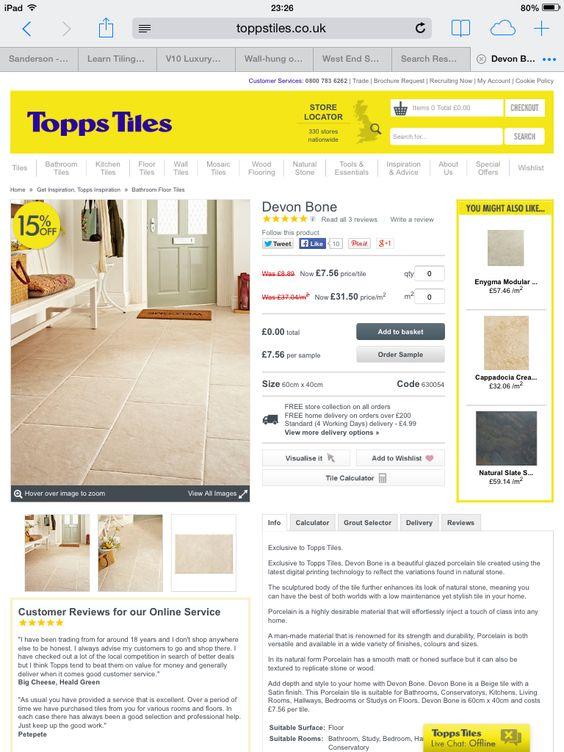 Limestone tiles - like Trilby Rd