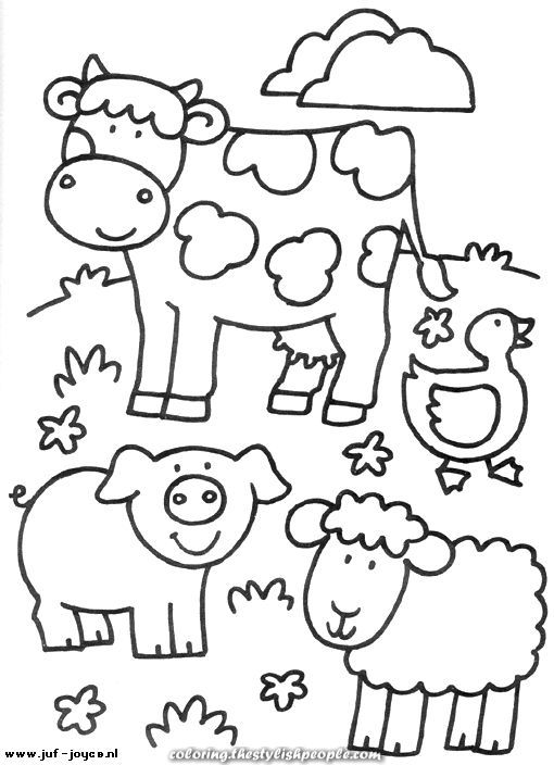 Animales De Granja Dibujos Para Colorear With Images Farm