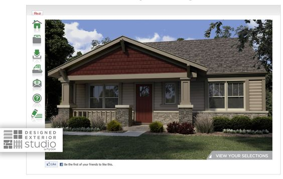 Home exterior design tool home exterior designs pinterest home ux ui designer and home - Exterior home design tool ...
