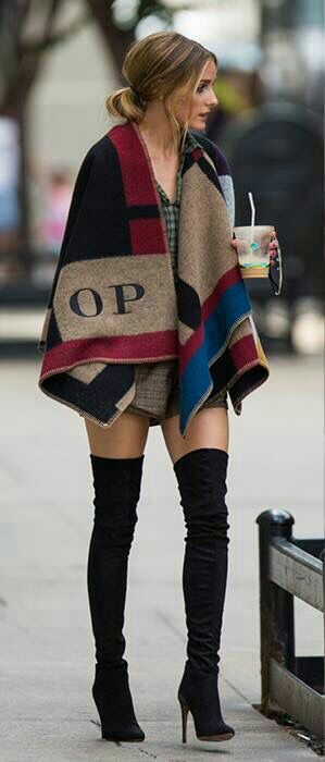 fitted thigh-high boots /Olivia Palermo | My kinda style | Pinterest