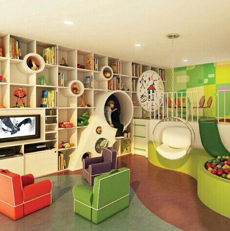 Inspiração ♡ #interiores #design #interiordesign #decor #decoração #decorlovers #archilovers #inspiration #ideias #brinquedoteca #toylibrary