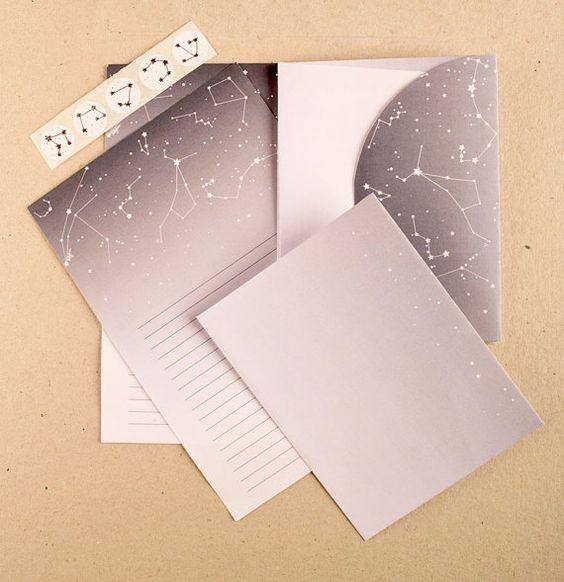 Constellation Stationary Printable PDF download
