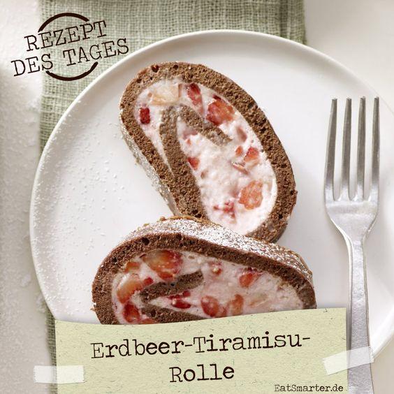 http://eatsmarter.de/rezepte/erdbeer-tiramisu-rolle – Erdbeer-Tiramisu-Rolle: Begeistern Sie mit diesem Star auf Ihrer Kaffeetafel!