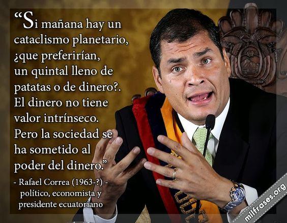 Rafael Correa, político, economista y presidente ecuatoriano.
