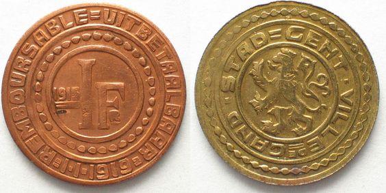 1915 Gent GENT 1 Frank 1915 J.614 ERHALTUNG! # 94683 vz+