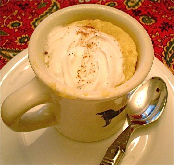 Eggnog Mug Cake in 2 Minutes | Family Kitchen
