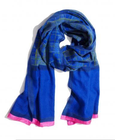 Blue Kumudh Cashmere Scarf ShopLatitude.com