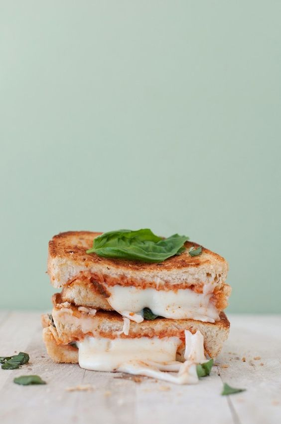 Margherita pizza grilled cheese :)