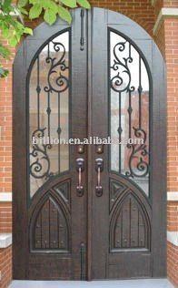 Fabricaci n forjado puerta de hierro para el jard n - Puertas de hierro para jardin ...