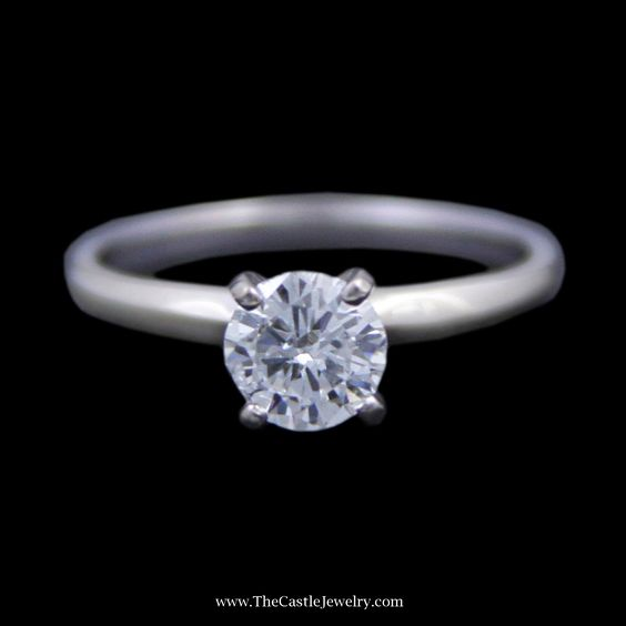 Gorgeous Round Brilliant Cut Diamond Solitaire Engagement Ring in White Gold