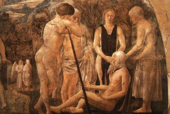 The Death of Adam, detail of Adam and his Children : PIERO della FRANCESCA : Art Images : Imagiva