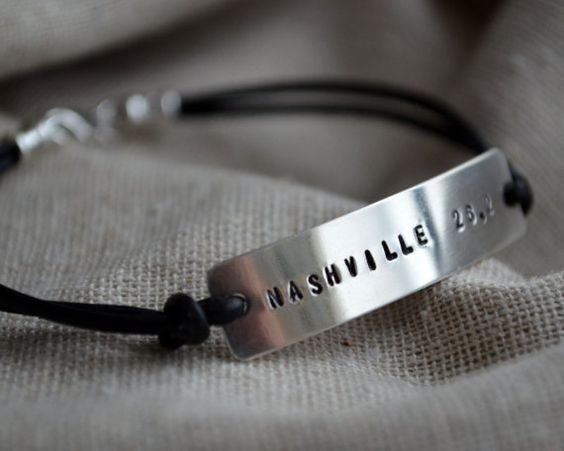 Customize a sterling marathon bracelet by ThoughtBlossoms with your marathon locale! (Etsy, $26.00)