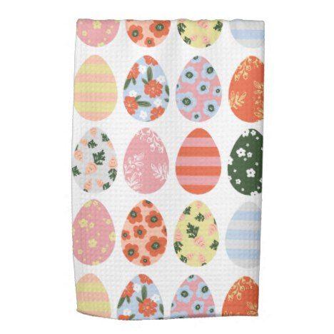Easter Eggs Kitchen Towel Zazzle Com Hand Towels Easter Eggs