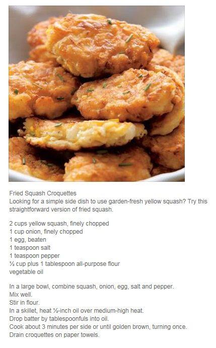 Fried Squash Croquettes