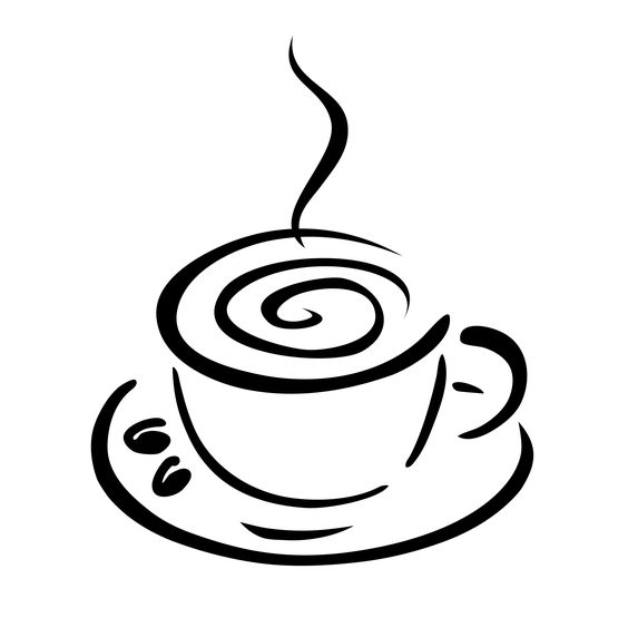 Coffee Cup Black And White Clipart - Clipart Kid