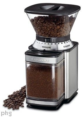 Cuisinart coffee grinder. Have it, use it, love it...and totally inexpensive!