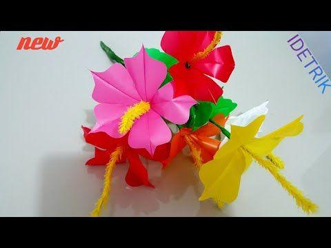 Langkah Mudah Membuat Bunga Dengan Kantong Plastik Kresek Youtube Bunga Kertas Tisu Bunga Bunga Kertas