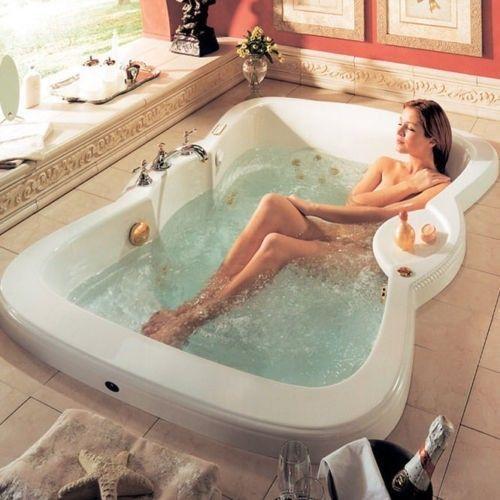 72 Quot X 48 Quot Neptune Etna Rectangle Bathtub Soaker For Two