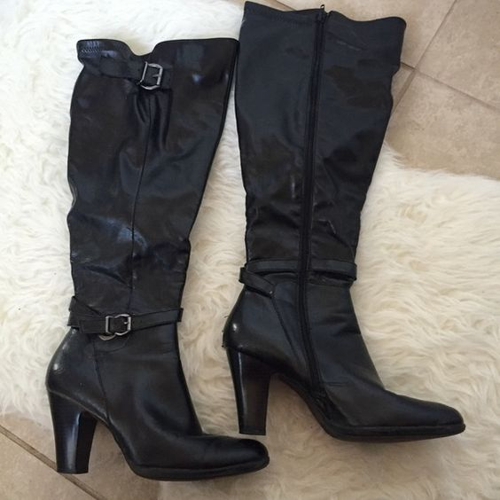 Boots Wide calf high Hereford boots Avenue Shoes Heeled Boots