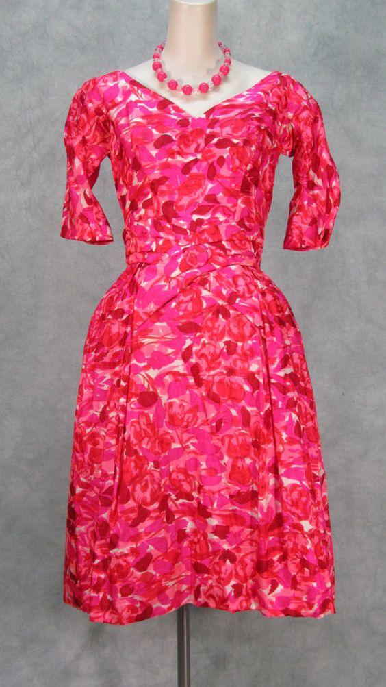 Fun 1960s Dress Puff Skirt Cross Waist Neusteters by klassicline