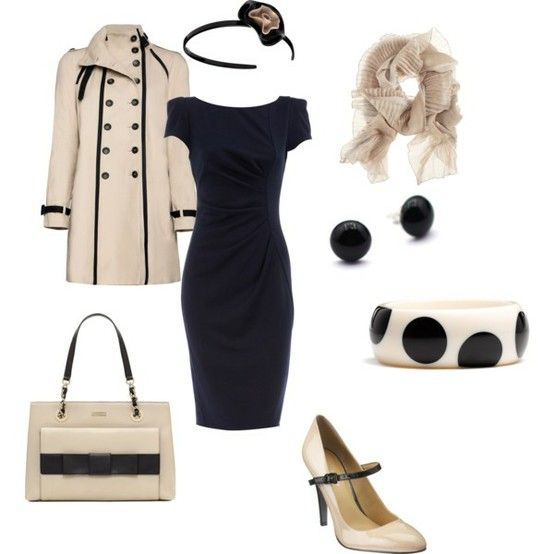 Black and cream - Click image to find more Women's Apparel Pinterest pins
