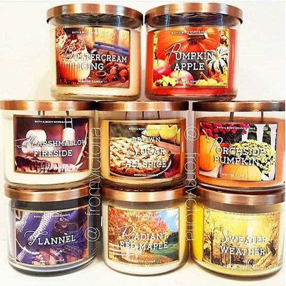 Bath & Body Works Fan Page @lovebathbodyworks Fall candles! Che...Instagram photo | Websta (Webstagram)
