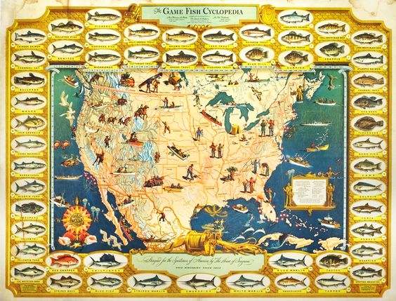 $950!!  Bemis, Ivaldo poster: The Game Fish Cyclopedia