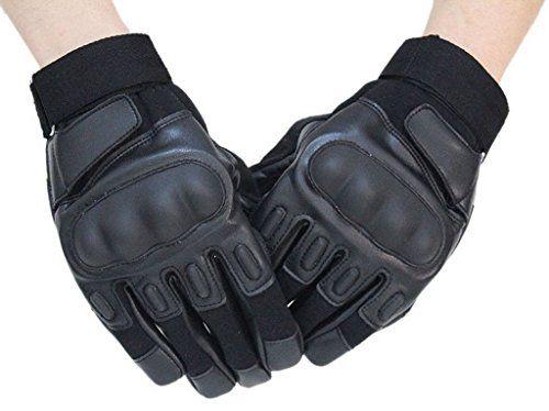Bigood Mode Herren Handschuh Motorrad Handschuh Motorradhandschuhe XL Schwarz