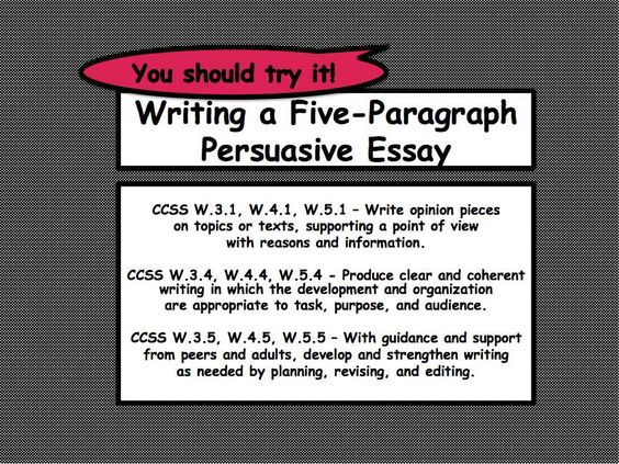essay set up 5 paragraphs